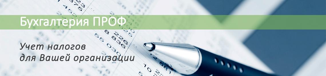 бухгалтерия ПРОФ учет налогов